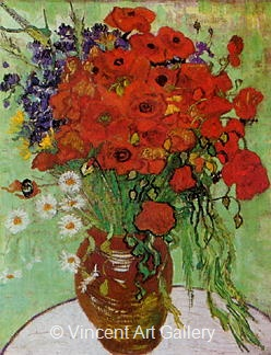 Still Life: Red Poppies and Daisies by Vincent van Gogh