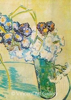 Still Life, Glass with Carnations by Vincent van Gogh