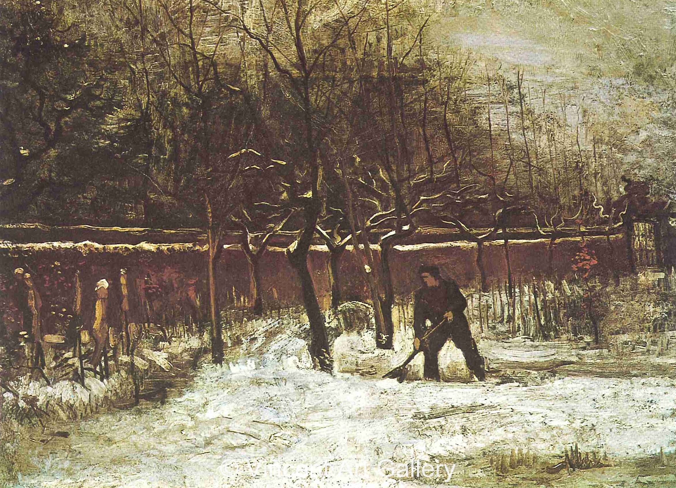 jh603 - The Parsonage Garden at Nuenen in the Snow - 300dpi